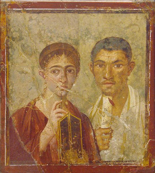 Portrait of Terentius Neo and his wife,  (Naples National Archaeological Museum)