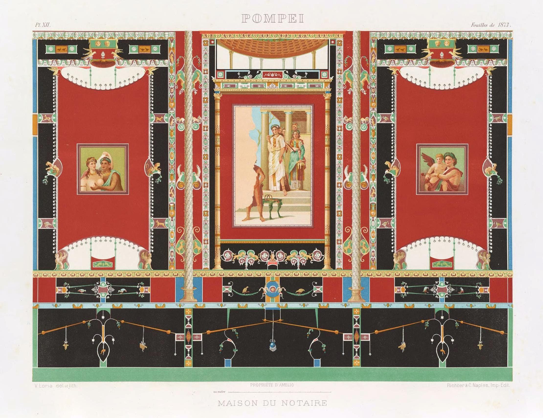 Dipinti Murali E Pittura Ad Ago : Dipinti murali scelti di pompei pompei online.net