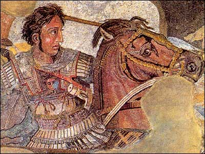 """The """"Alexander mosaic"""" at the Battle of Issus,"""